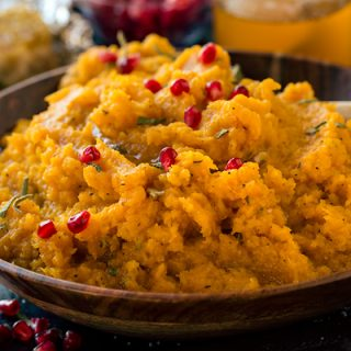 Roasted Butternut Squash Mash with Brown Butter and Roasted Garlic