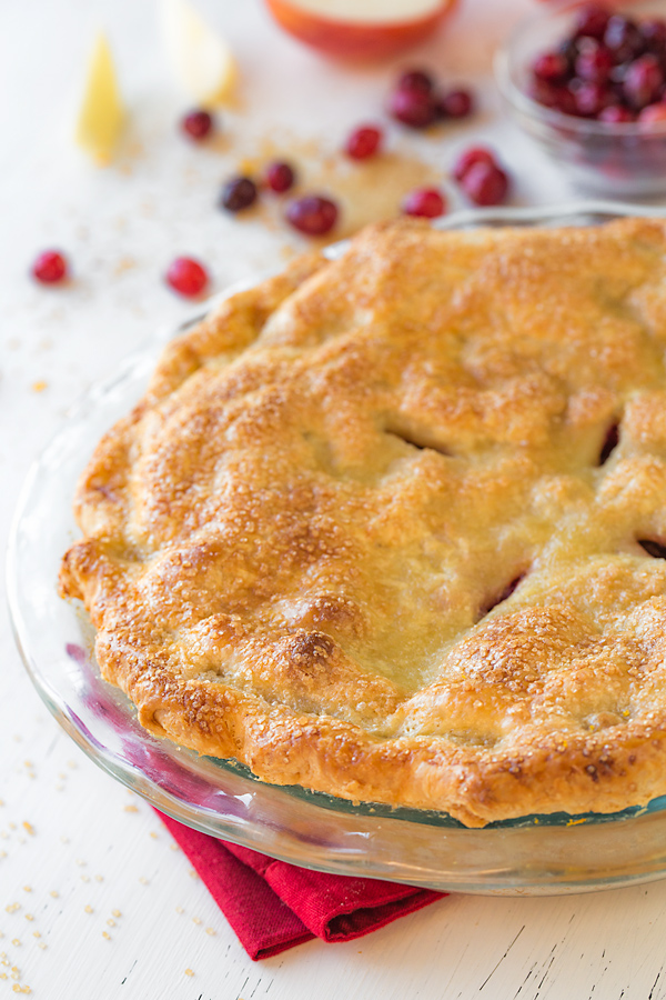 Apple Cranberry Pie | thecozyapron.com