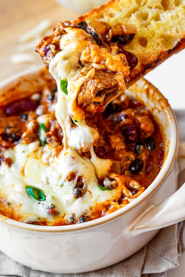 Chili Cheesesteak Stew
