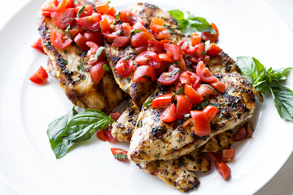 Grilled Chicken with Tomato-Basil Salsa