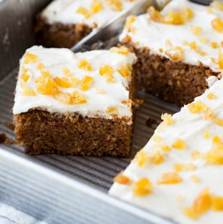 Chinese Five Spice Cake with Ginger Frosting