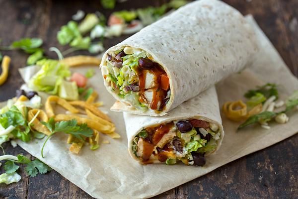 BBQ Chicken Salad Wrap | thecozyapron.com