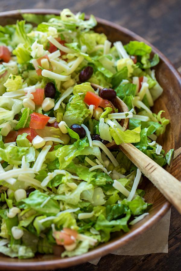 BBQ Chicken Salad Wrap Ingredients | thecozyapron.com