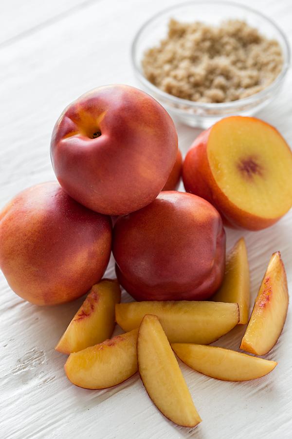 Nectarine Crumb Tart Ingredients | thecozyapron.com