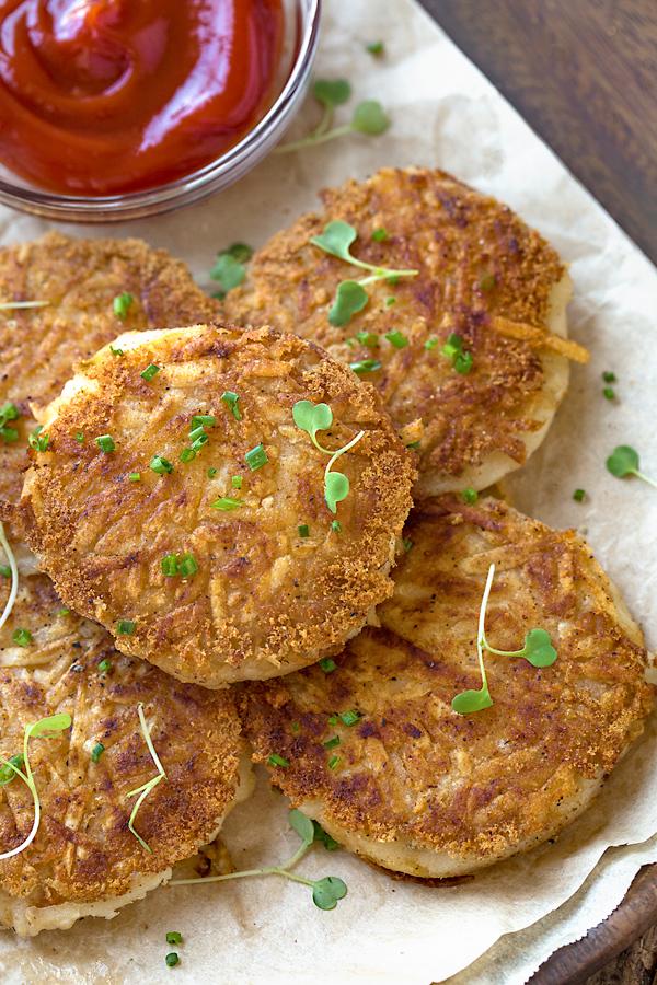 Hash Brown Potato Cakes   thecozyapron.com