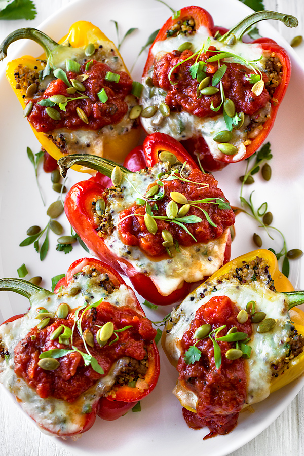Stuffed Peppers | thecozyapron.com