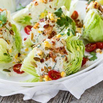Mexican Wedge Salad | thecozyapron.com
