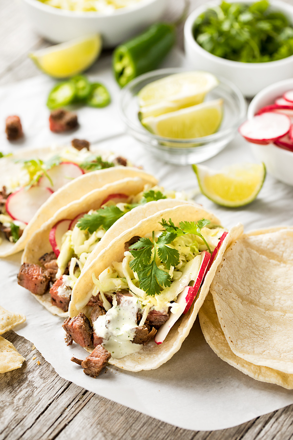 Steak Tacos | thecozyapron.com