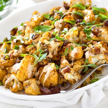Roasted Cauliflower | thecozyapron.com