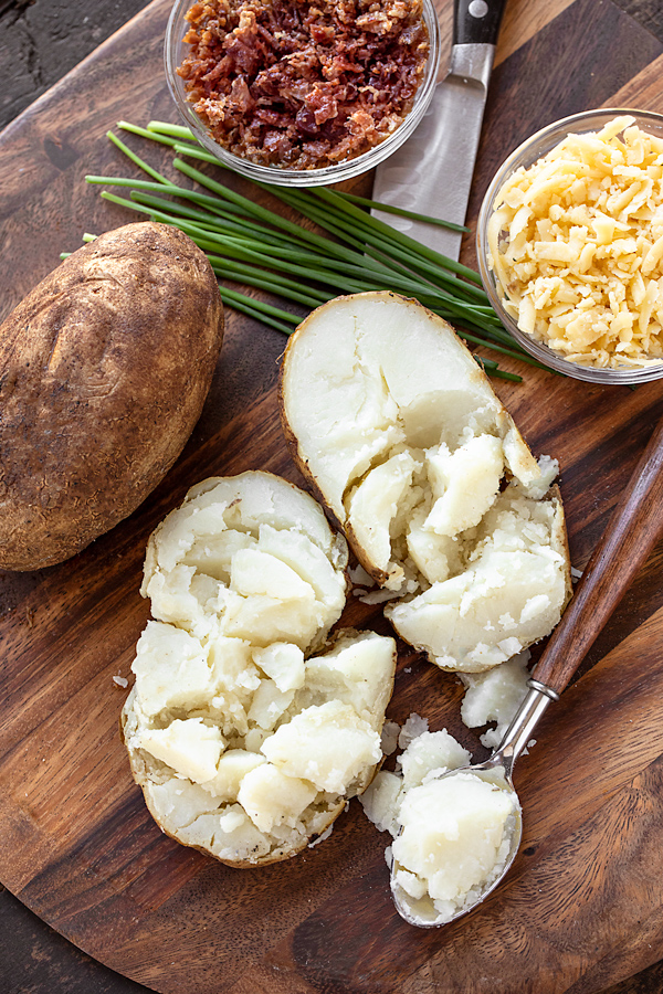 Ingredients for Loaded Baked Potato Soup | thecozyapron.com