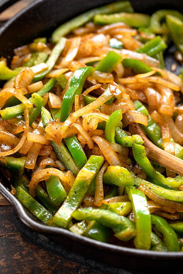 Sauteed Peppers and Onions for Pepper Steak | thecozyapron.com