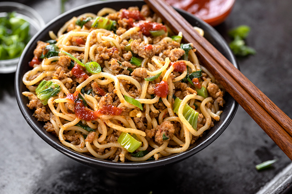 Spicy Pork with Noodles