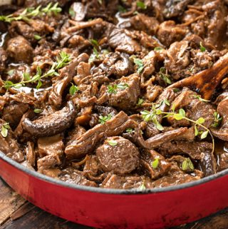 Braised Beef with Mixed Mushrooms | thecozyapron.com