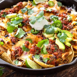 Chicken Nachos with Fire-Roasted Tomato Salsa | thecozyapron.com
