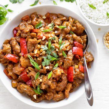 Peanut Sauce Chicken | thecozyapron.com