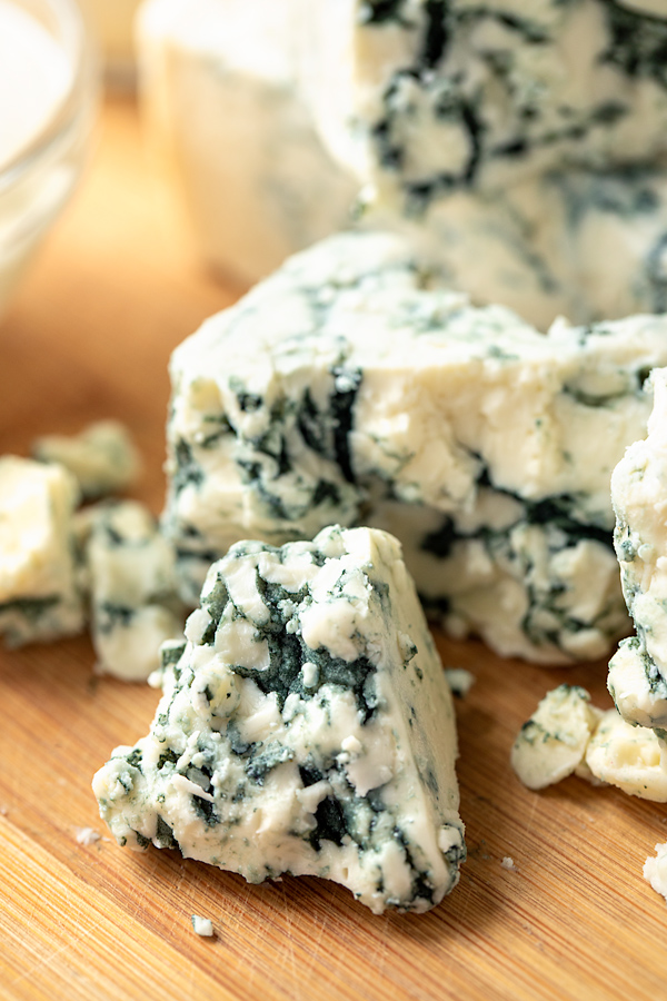 Fresh Blue Cheese for Blue Cheese Dressing | thecozyapron.com
