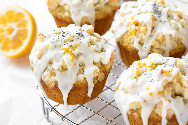 Lemon Poppy Seed Muffins with Streusel