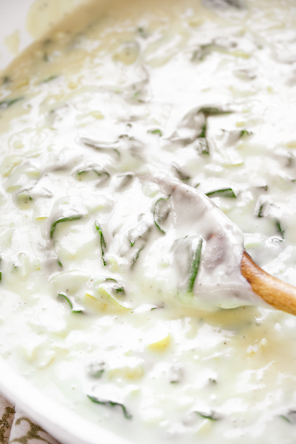 Spinach Cream Sauce for Penne Pasta | thecozyapron.com