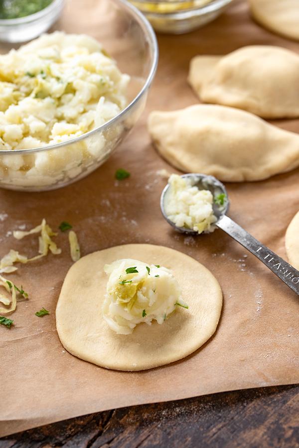 Preparation for Pierogi with Potato and Sauerkraut   thecozyapron.com