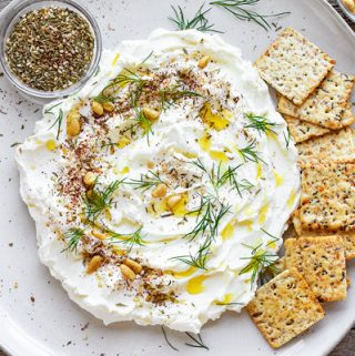 Labneh on Platter | thecozyapron.com
