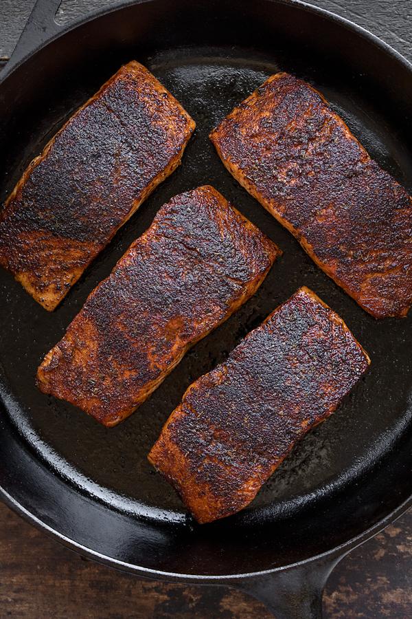 Blackened Salmon in a Skillet | thecozyapron.com
