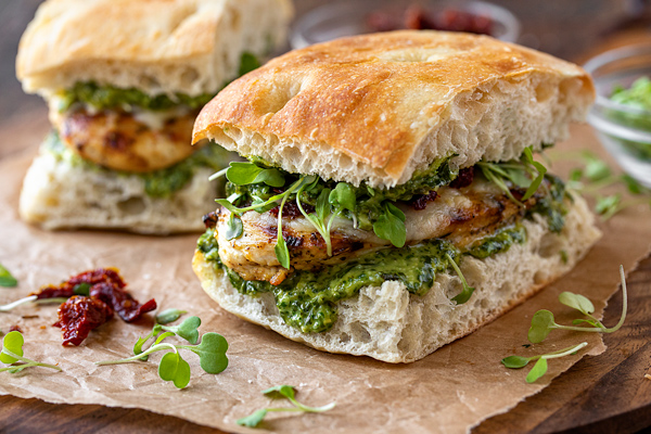 Grilled Chicken Sandwich With Pesto The Cozy Apron