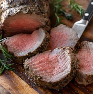 Beef Tenderloin with Herb-Pepper Crust | thecozyapron.com