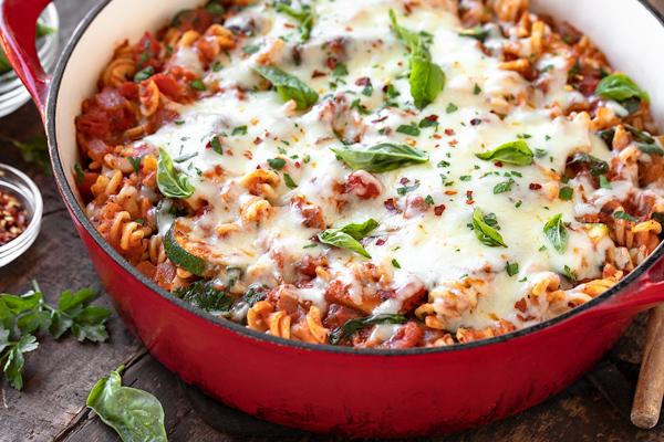 Vegetable Pasta with Mozzarella