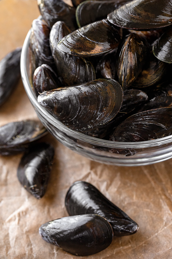 Fresh Mussels for Steaming | thecozyapron.com