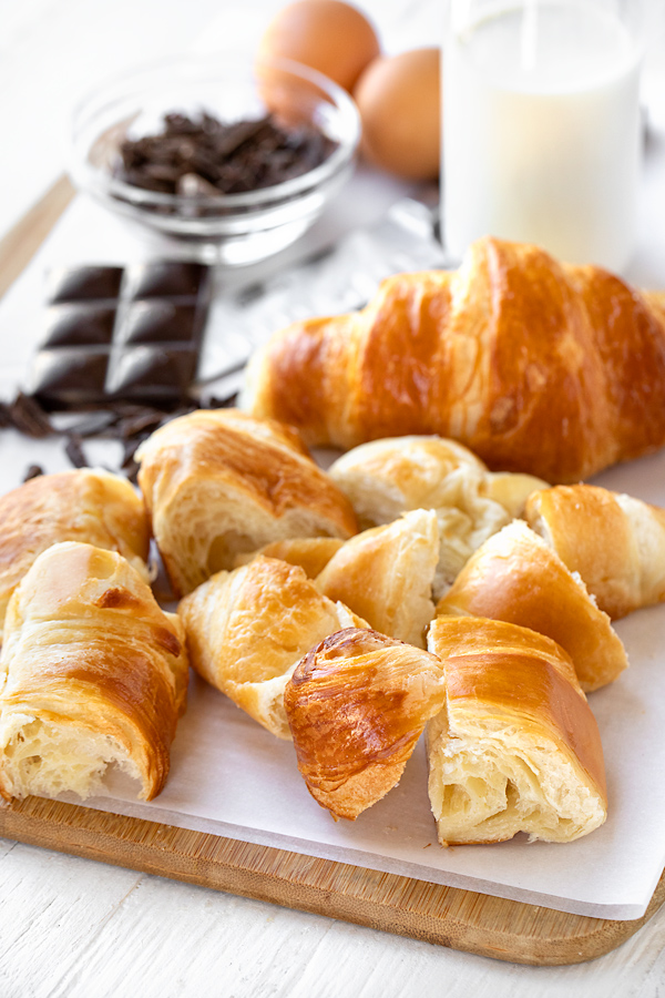 Ingredients for Croissant Bread Pudding | thecozyapron.com