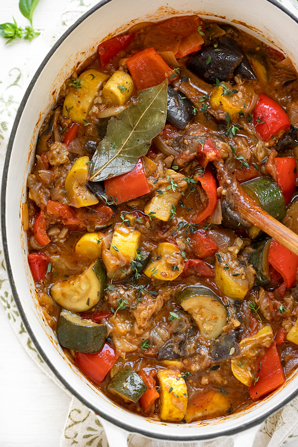 Ratatouille Recipe in a Pot | thecozyapron.com