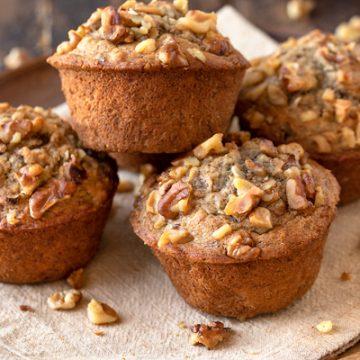 Banana Nut Muffins | thecozyapron.com