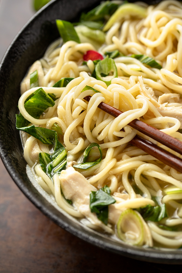 Ramen with Lemongrass-Ginger Broth | thecozyapron.com