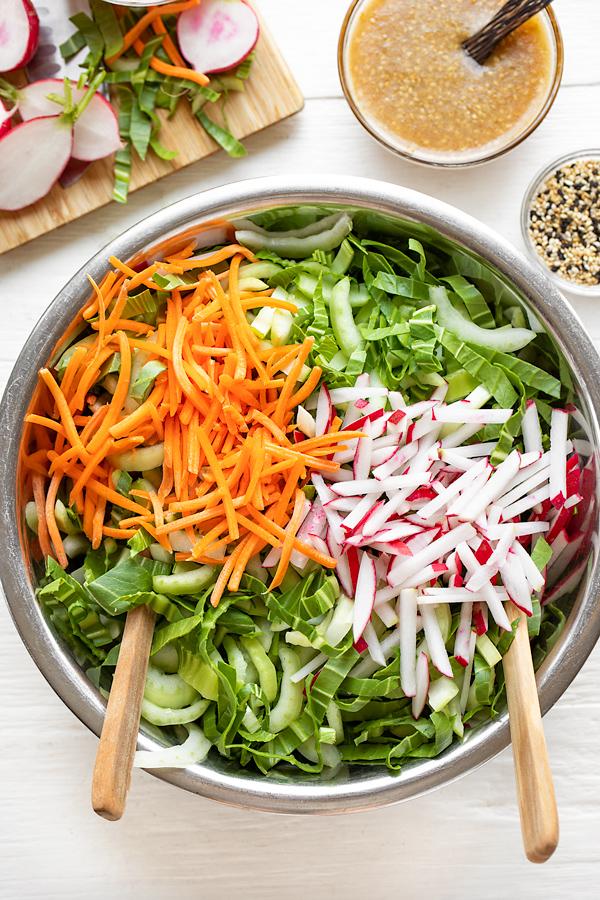 Bok Choy Salad Ingredients | thecozyapron.com