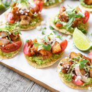 Shrimp Tostada Bites | thecozyapron.com
